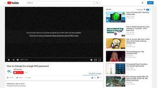 How to change Evo wingle Wifi password - YouTube