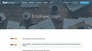 Employee Login - PayData