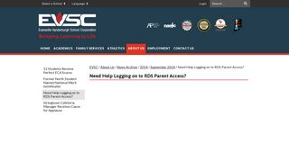 Need Help Logging on to RDS Parent Access? - EVSC