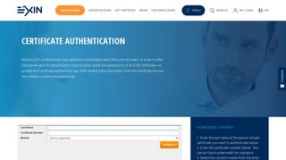 Certificate authentication   EXIN