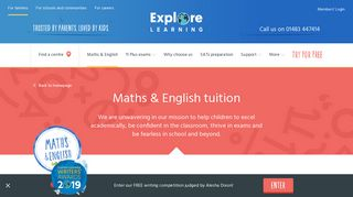 Maths and English Tuition for Children - Explore Learning