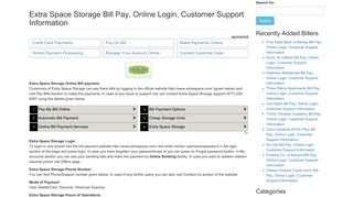 Extra Space Storage Bill Pay, Online Login, Customer Support ...