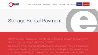 Storage Rental Payment - Extra Space Asia Singapore
