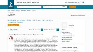 Eyesurf   Complaints   Better Business Bureau® Profile