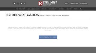 EZ Report Cards - Columbia International College