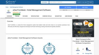eZee Frontdesk - Hotel Management Software - Reviews, Pricing, Free ...