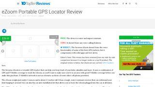 eZoom Portable GPS Locator Review - Pros, Cons and Verdict