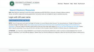 Ezproxy login - University of Hawaii