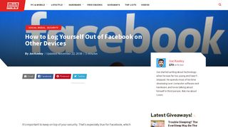 How to Log Yourself Out of Facebook on Other Devices - MakeUseOf