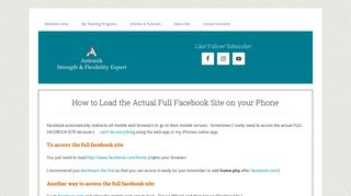 access the full version of facebook's site on your mobile phone browser