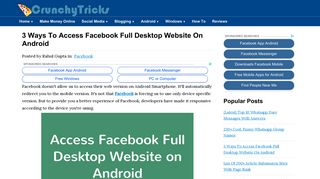 3 Ways To Access Facebook Full Desktop Website On Android