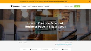 How to Create a Facebook Business Page in 8 Easy ... - Hootsuite Blog