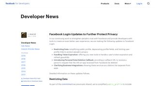 Facebook Login Updates to Further Protect Privacy - Facebook for ...