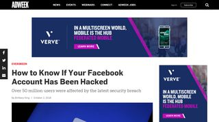 How to Know If Your Facebook Account Has Been Hacked – Adweek