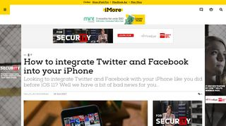 How to integrate Twitter and Facebook into your iPhone   iMore