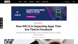 How iOS 11 Is Impacting Apps That Are Tied to Facebook – Adweek