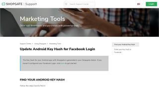 Update Android Key Hash for Facebook Login – Support Center