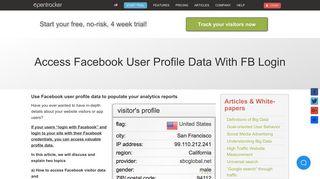 Access Facebook user profile data with FB Login - Opentracker