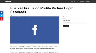Enable/Disable on Profile Picture Login Facebook - Techzillo