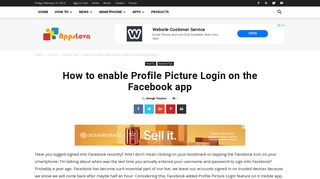 How to enable Profile Picture Login on the Facebook app