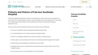 Patients and Visitors of Fairview Southdale Hospital