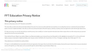 Privacy policy - FFT