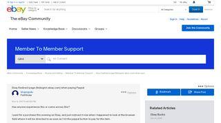 Ebay Redirect page (fedsignin.ebay.com) when payi... - The eBay ...