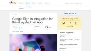 Google Sign-In Integration for the eBay Android App - eBay Inc.