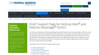 (EUAC) Support Page for FedLine Web and FedLine Advantage EUACs