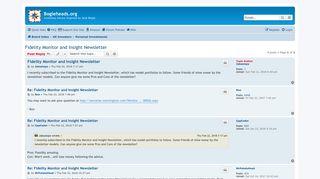 Fidelity Monitor and Insight Newsletter - Bogleheads.org