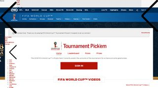 FIFA World Cup Tournament Pick'em 2018   Fantasy Soccer Competition