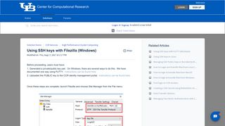 Using SSH keys with Filezilla (Windows) : Center for Computational ...