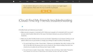 iCloud: Find My Friends troubleshooting - Apple Support