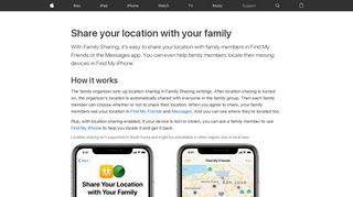 Share your location with your family - Apple Support