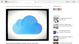 iCloud Account Problems? Here's how to solve them - AppleToolBox