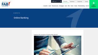 Online Banking | First Abu Dhabi Bank, UAE - FAB