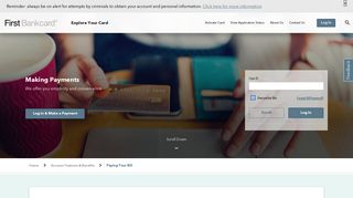 Payments for Your Credit Card Bill | First Bankcard