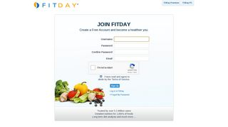 FitDay Sign Up