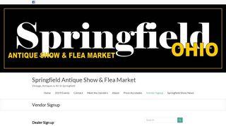 Vendor Signup • Springfield Antique Show & Flea Market