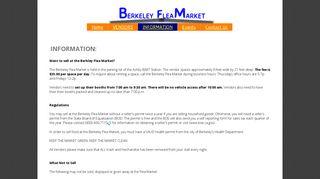 information - Berkeley - Berkeley Flea Market