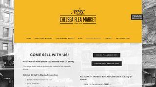 Vendors Wanted! — Annex Markets: Chelsea Flea Market