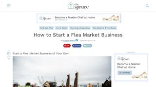 How to Start a Flea Market Business - The Spruce