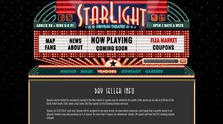 Flea Market Vendor Info - Starlight Drive In