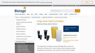 Biotage - Large Scale Flash Cartridges
