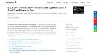 U.S. Bank FlexPerks Travel Rewards Visa Signature Card: A Great ...