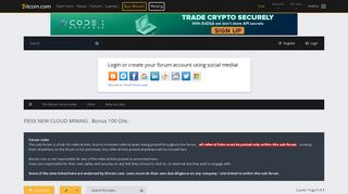 FlEXX NEW CLOUD MINING . Bonus 100 Ghs . - The Bitcoin Forum
