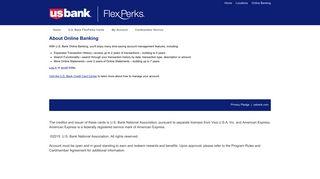 U.S. Bank FlexPerks Cards - Online Banking
