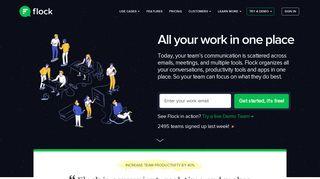 Flock - Team Messenger & Online Collaboration Platform