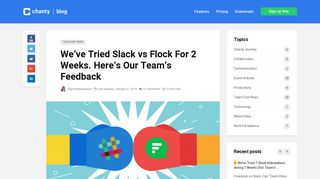 We've Tried Slack vs Flock For 2 Weeks. Here's Our Team's Feedback