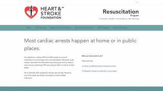 Resuscitation Program | Canadian leader in emergency care training